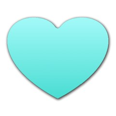 Celeste To Turquoise Gradient Mouse Pad (Heart)
