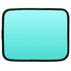 Celeste To Turquoise Gradient Netbook Case (Large)