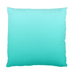 Celeste To Turquoise Gradient Cushion Case (Two Sides)