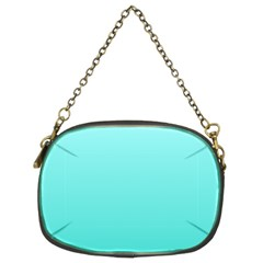 Celeste To Turquoise Gradient Chain Purse (Two Side)