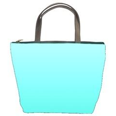 Celeste To Turquoise Gradient Bucket Bag