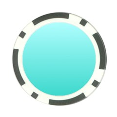 Celeste To Turquoise Gradient Poker Chip 10 Pack