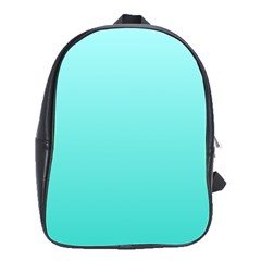 Celeste To Turquoise Gradient School Bag (large)