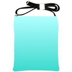Celeste To Turquoise Gradient Shoulder Sling Bag