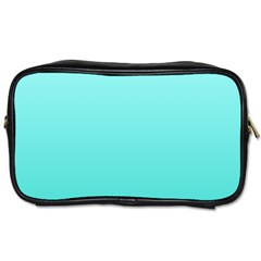 Celeste To Turquoise Gradient Travel Toiletry Bag (two Sides)