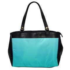 Celeste To Turquoise Gradient Oversize Office Handbag (One Side)