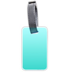Celeste To Turquoise Gradient Luggage Tag (two Sides)