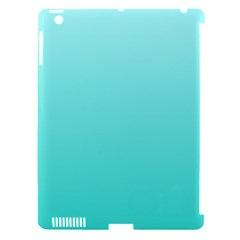 Celeste To Turquoise Gradient Apple Ipad 3/4 Hardshell Case (compatible With Smart Cover)