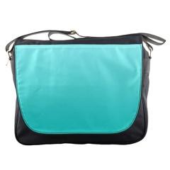 Celeste To Turquoise Gradient Messenger Bag
