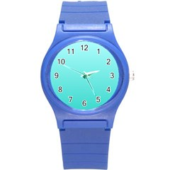 Celeste To Turquoise Gradient Plastic Sport Watch (Small)