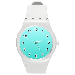 Celeste To Turquoise Gradient Plastic Sport Watch (Medium)
