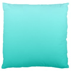 Celeste To Turquoise Gradient Large Cushion Case (One Side)