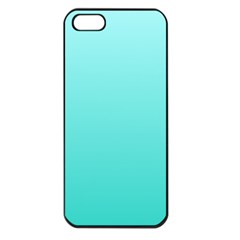 Celeste To Turquoise Gradient Apple iPhone 5 Seamless Case (Black)