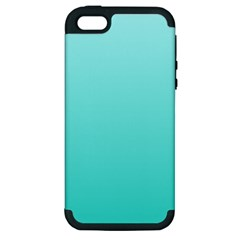 Celeste To Turquoise Gradient Apple Iphone 5 Hardshell Case (pc+silicone)