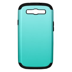Celeste To Turquoise Gradient Samsung Galaxy S III Hardshell Case (PC+Silicone)