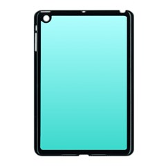 Celeste To Turquoise Gradient Apple iPad Mini Case (Black)