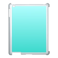 Celeste To Turquoise Gradient Apple iPad 3/4 Case (White)