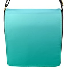 Celeste To Turquoise Gradient Flap closure messenger bag (Small)