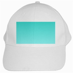 Turquoise To Celeste Gradient White Baseball Cap