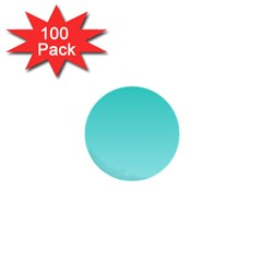 Turquoise To Celeste Gradient 1  Mini Button (100 Pack)