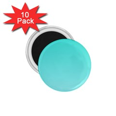 Turquoise To Celeste Gradient 1 75  Button Magnet (10 Pack)
