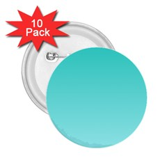Turquoise To Celeste Gradient 2.25  Button (10 pack)