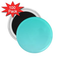 Turquoise To Celeste Gradient 2.25  Button Magnet (100 pack)