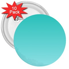 Turquoise To Celeste Gradient 3  Button (10 pack)