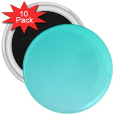 Turquoise To Celeste Gradient 3  Button Magnet (10 Pack)