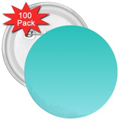 Turquoise To Celeste Gradient 3  Button (100 Pack)