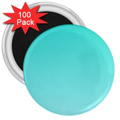 Turquoise To Celeste Gradient 3  Button Magnet (100 Pack)