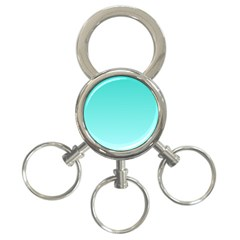 Turquoise To Celeste Gradient 3-Ring Key Chain