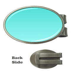 Turquoise To Celeste Gradient Money Clip (oval)