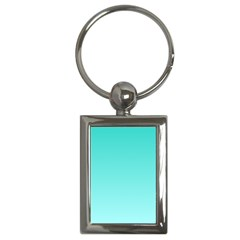 Turquoise To Celeste Gradient Key Chain (rectangle)
