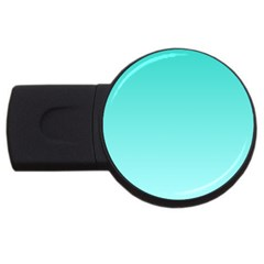 Turquoise To Celeste Gradient 1GB USB Flash Drive (Round)