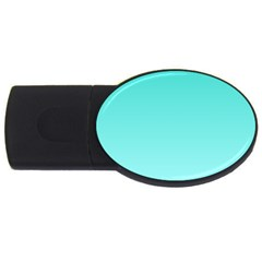 Turquoise To Celeste Gradient 1GB USB Flash Drive (Oval)