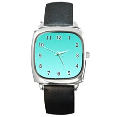 Turquoise To Celeste Gradient Square Leather Watch