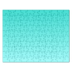 Turquoise To Celeste Gradient Jigsaw Puzzle (rectangle)