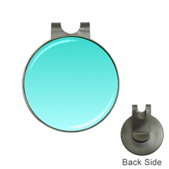Turquoise To Celeste Gradient Hat Clip with Golf Ball Marker