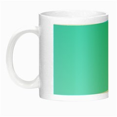 Turquoise To Celeste Gradient Glow In The Dark Mug