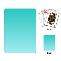 Turquoise To Celeste Gradient Playing Cards Single Design