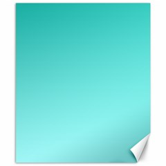 Turquoise To Celeste Gradient Canvas 8  x 10  (Unframed)