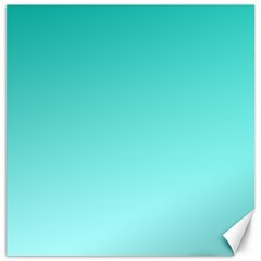 Turquoise To Celeste Gradient Canvas 12  x 12  (Unframed)
