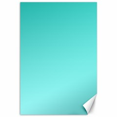 Turquoise To Celeste Gradient Canvas 12  x 18  (Unframed)