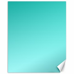 Turquoise To Celeste Gradient Canvas 16  X 20  (unframed)