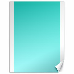 Turquoise To Celeste Gradient Canvas 18  x 24  (Unframed)