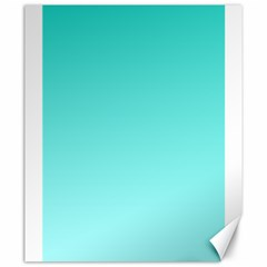 Turquoise To Celeste Gradient Canvas 20  x 24  (Unframed)