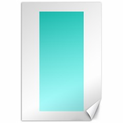 Turquoise To Celeste Gradient Canvas 24  x 36  (Unframed)