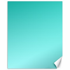 Turquoise To Celeste Gradient Canvas 11  X 14  (unframed)