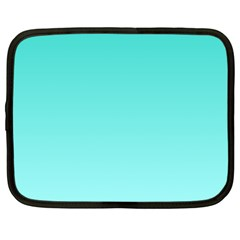 Turquoise To Celeste Gradient Netbook Case (Large)